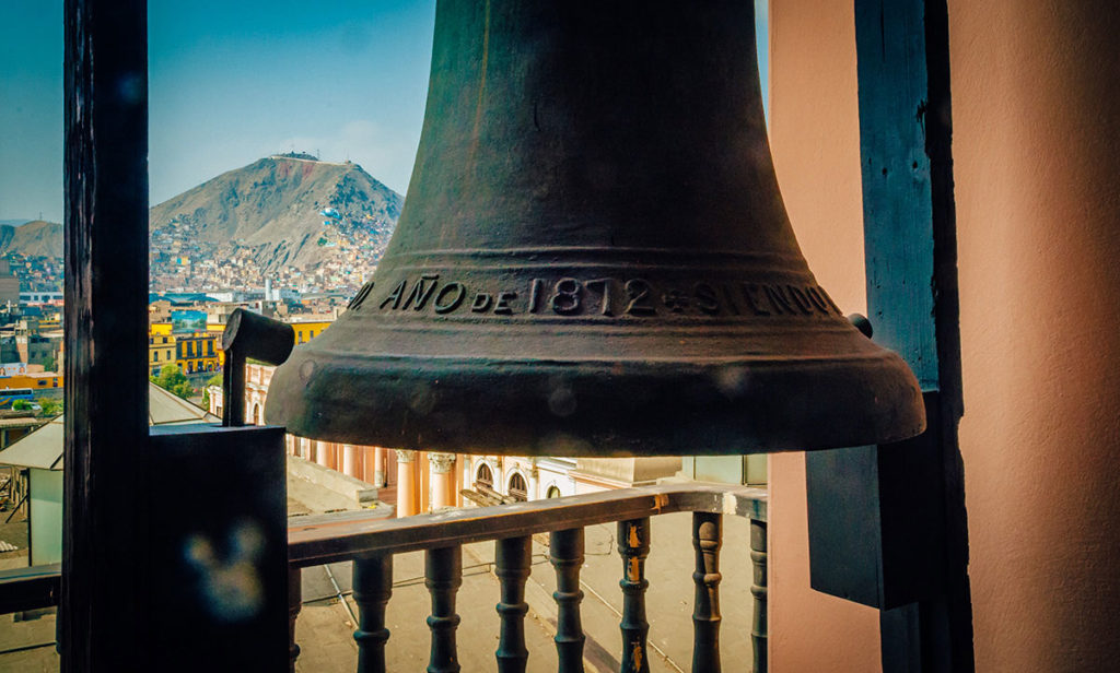 Bell on a bell tower - Peru