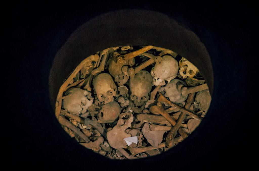 Skulls in a crypt - Peru