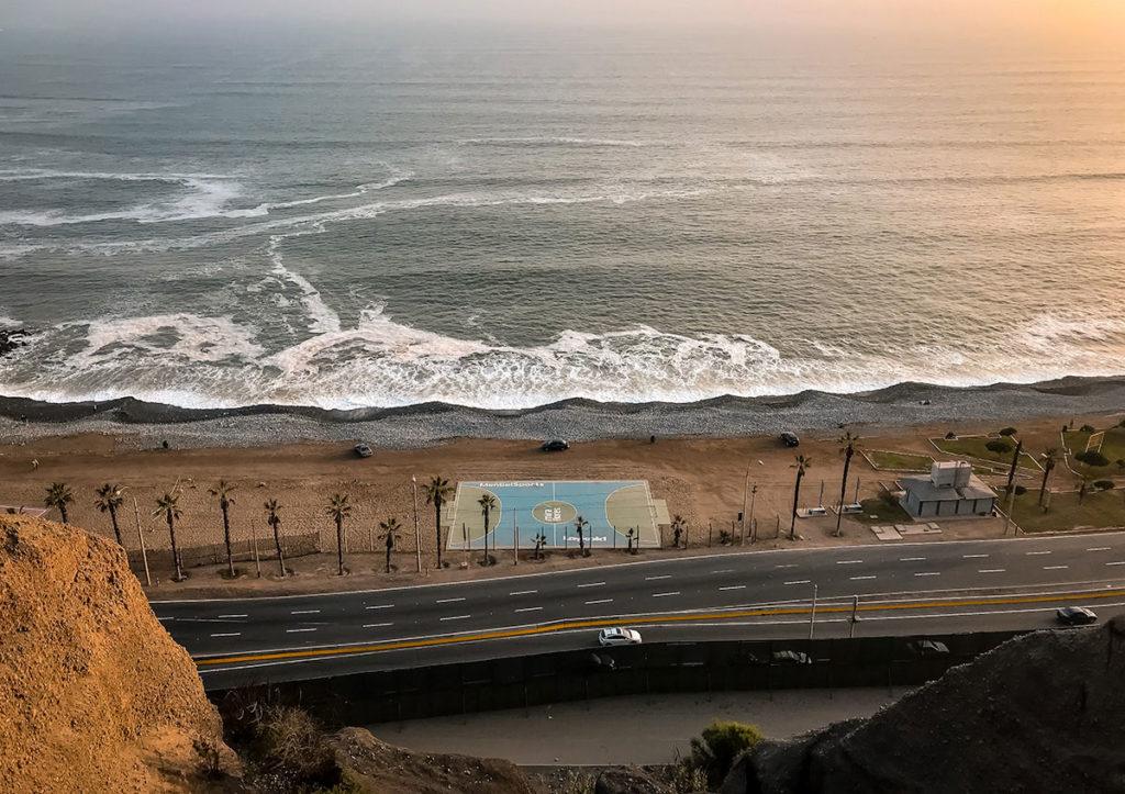 View of Lima's Atlantic coastline - Peru