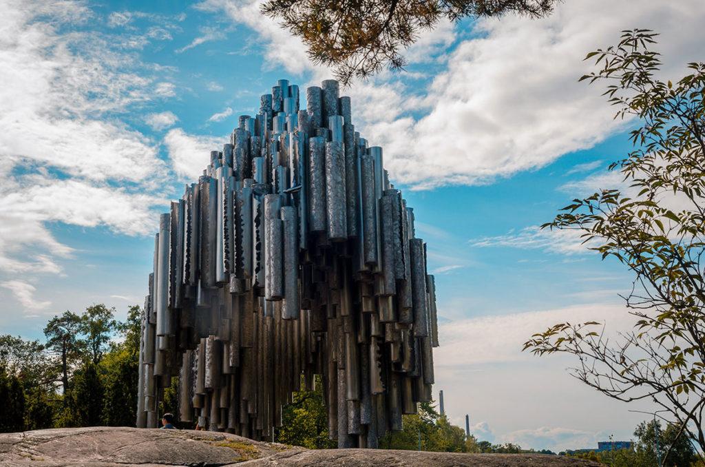 Organ pipe-looking Sculpture - Sibelius Park
