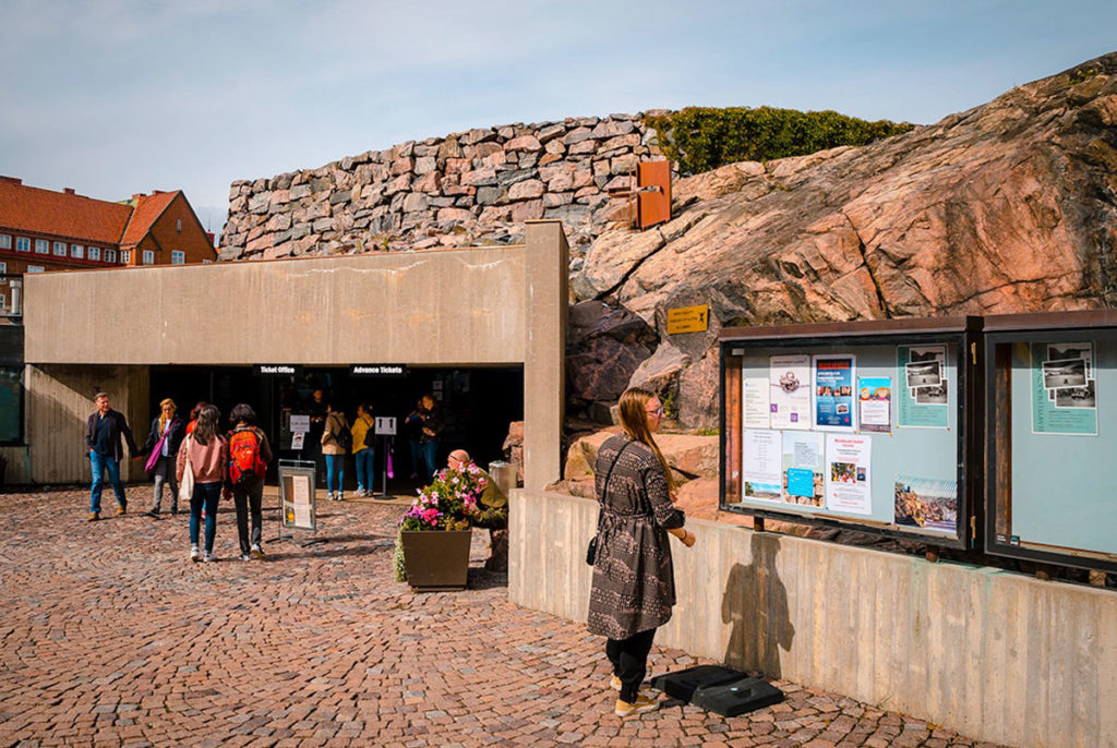 Rock Church entrance - Helsinki