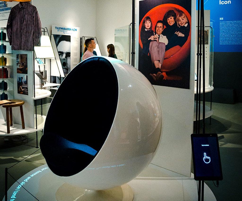 Ball Chair display - Design Museum