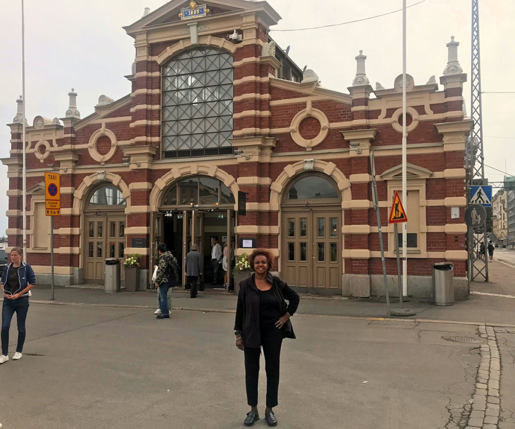 Khadija at the Old Market Hall - Helsinki