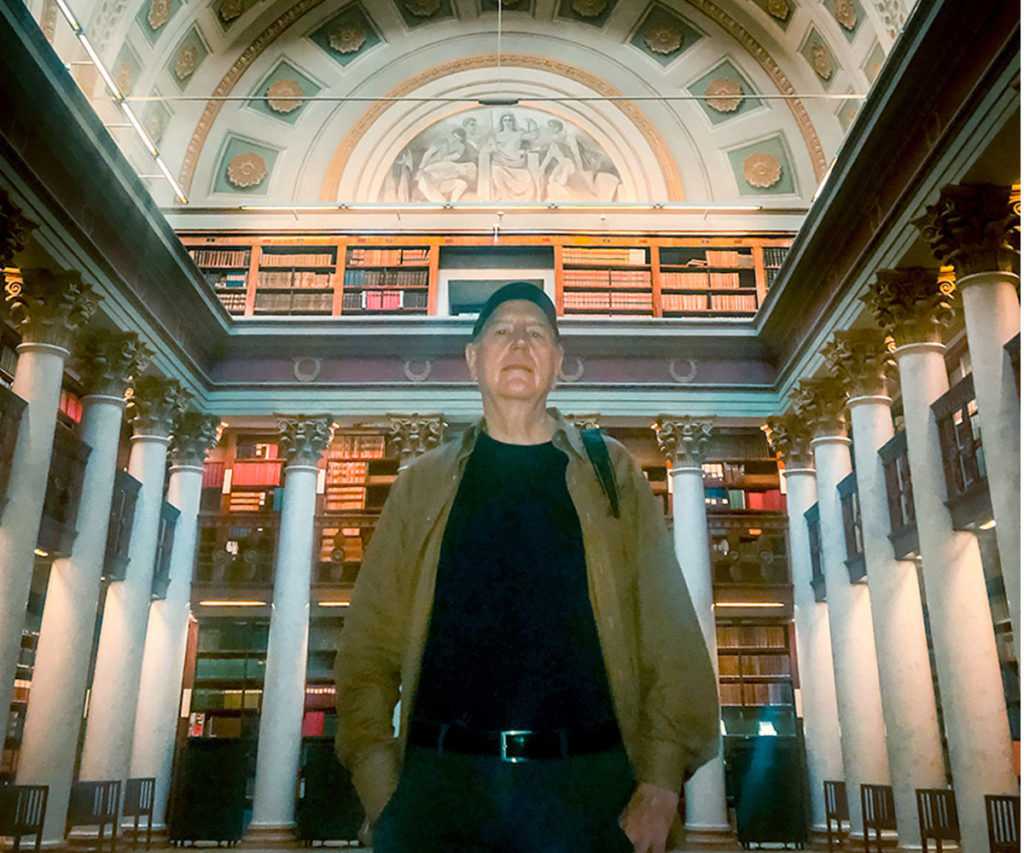 Ed at the National Library - Helsinki