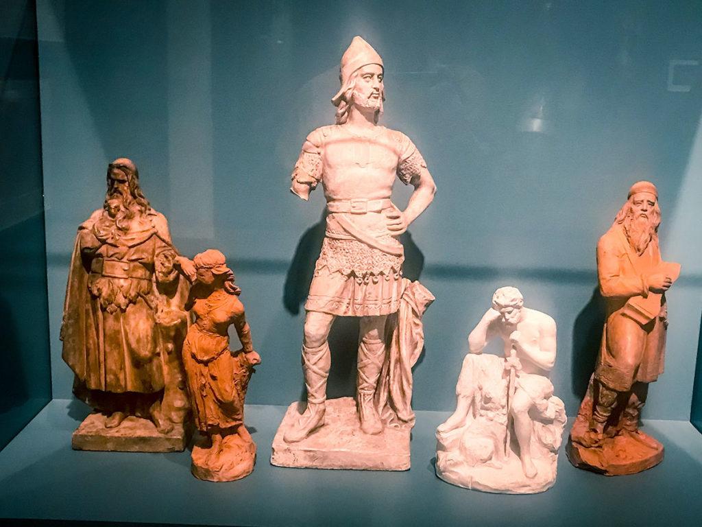 Kalevala Statues display - Ateneum Art Museum