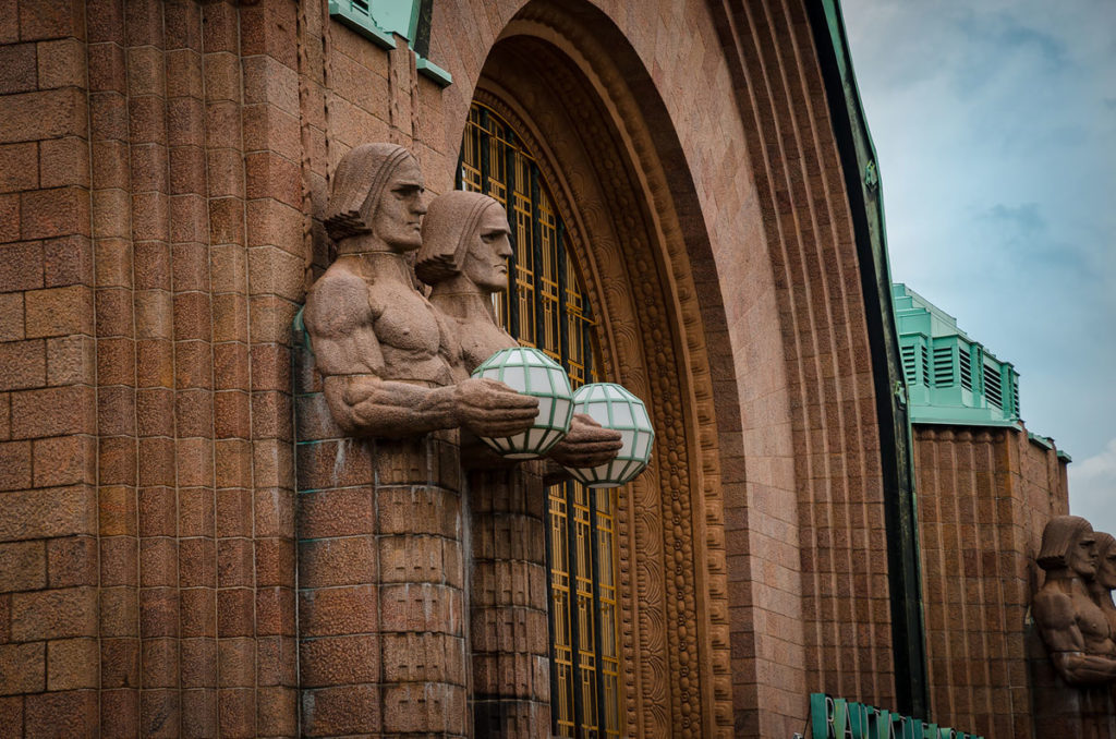 Lantern Carriers Statue - Helsinki Central Station