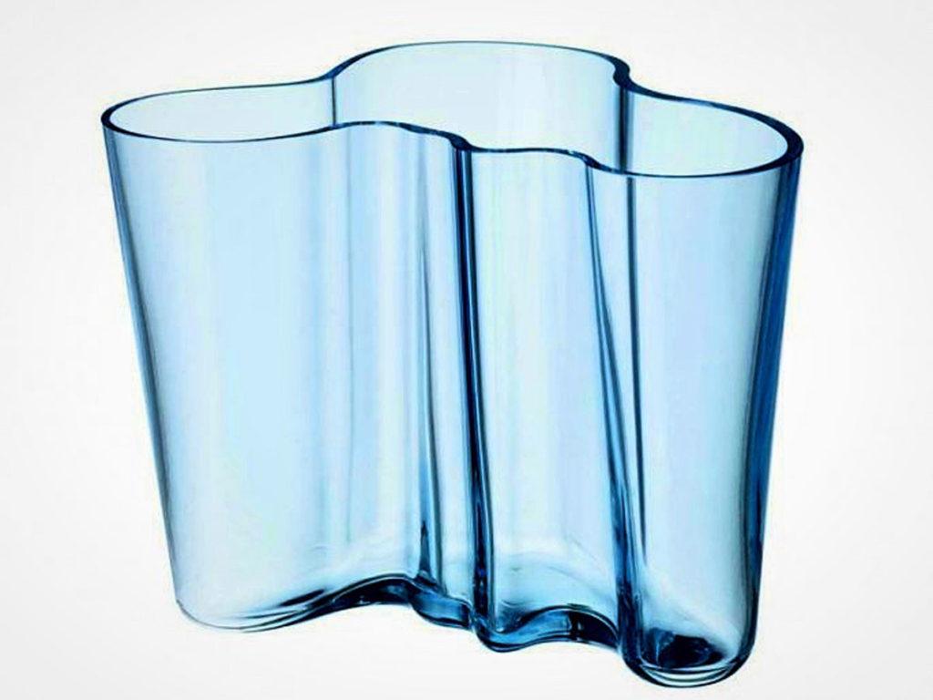 Alvar Aalto's wavy, blue glass - Helsinki