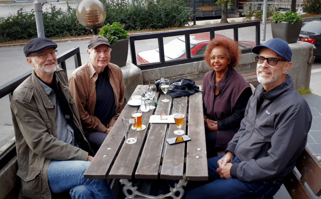 Ed and Khadija with Wif, Mike, and Pete - Helsinki