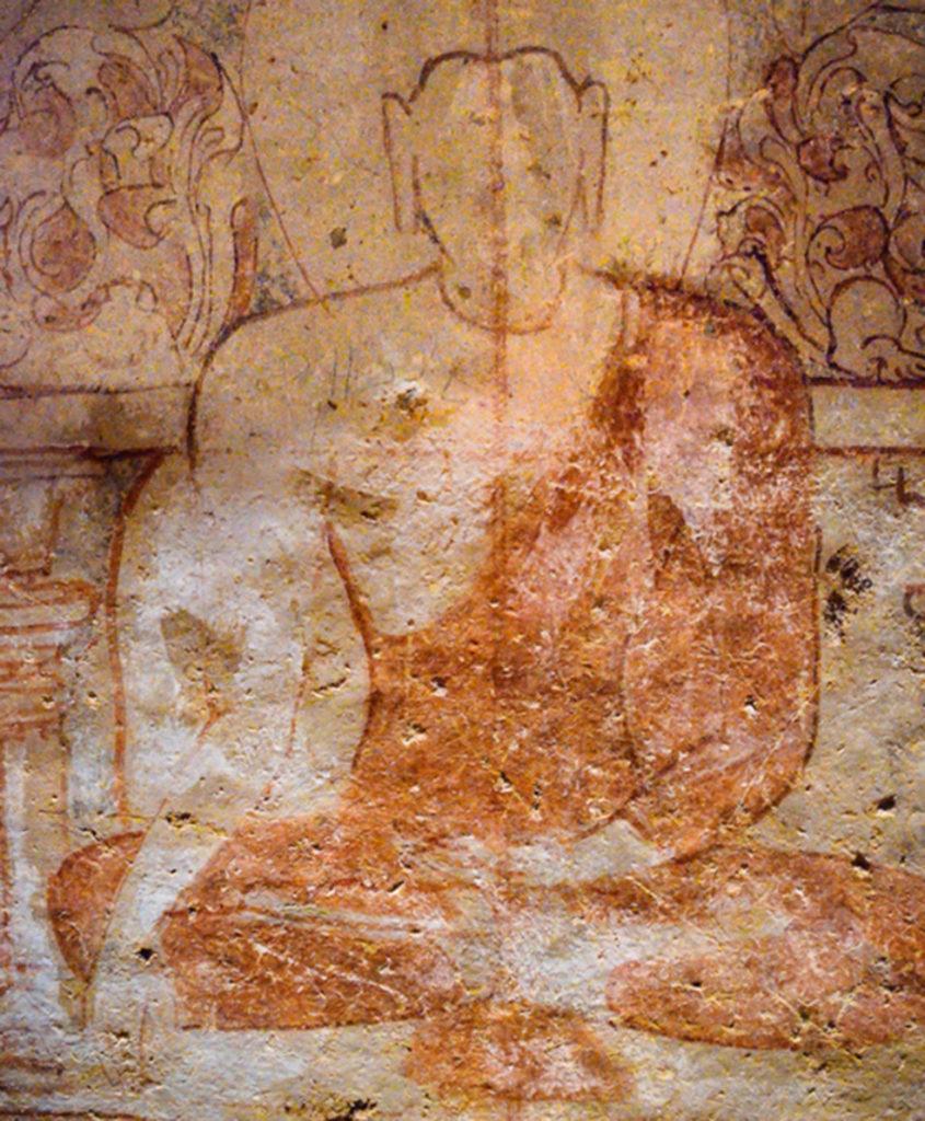 Cave 34 ceiling paintings - Kanheri Caves