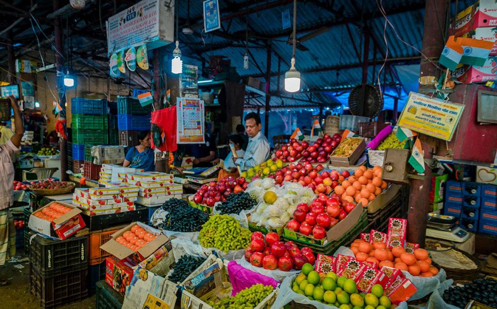 Fruit stalls in Crawford Market - Mumbai