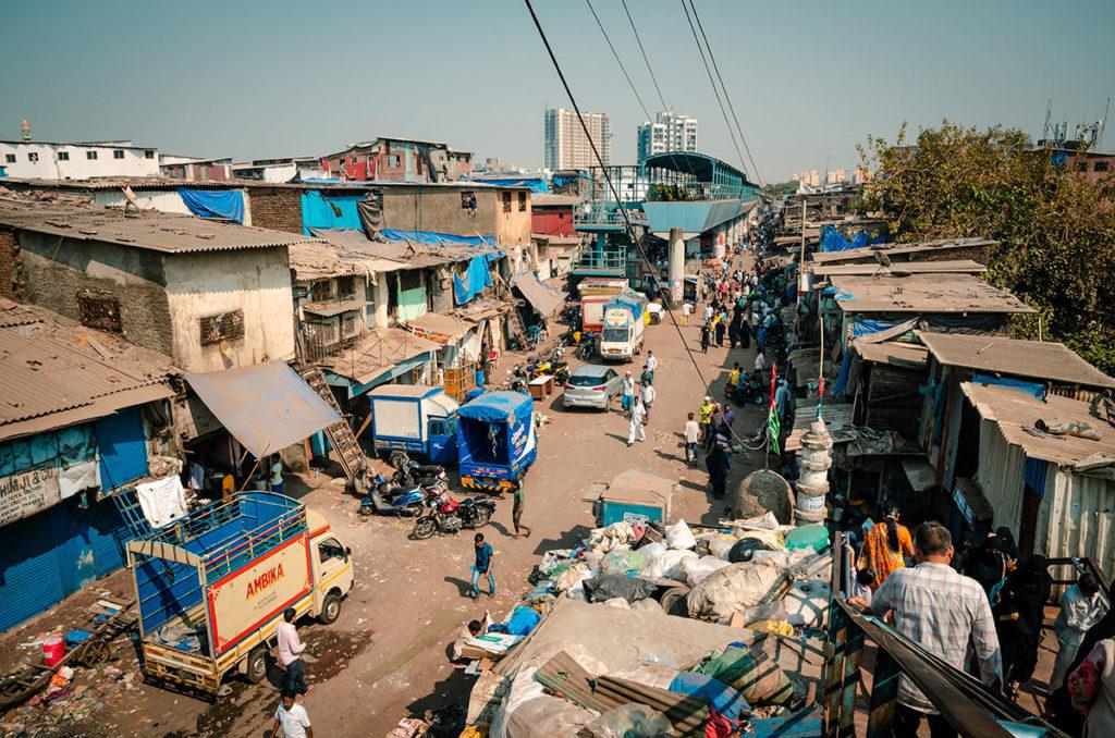 View of a slum area - Mumbai