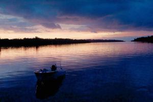 Boat at Sunset - Vonavona Lagoon