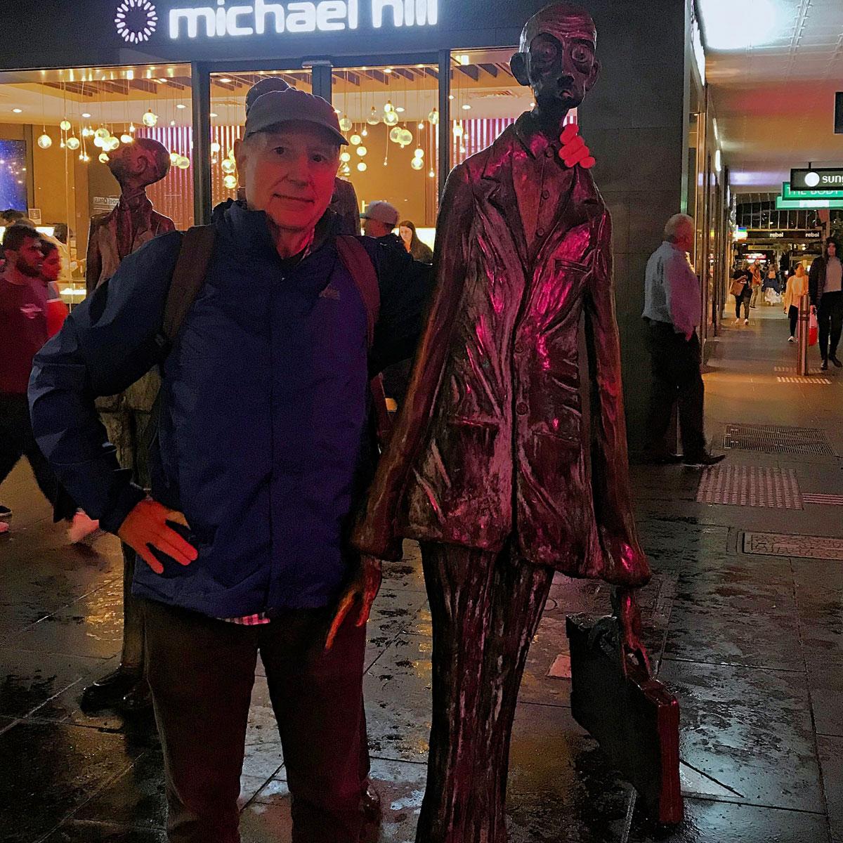 Swanson Street Business people Statues