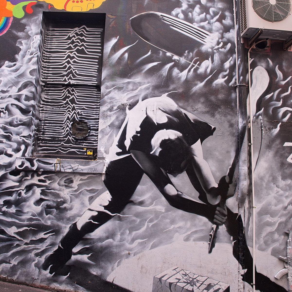 AC/DC Clash Mural