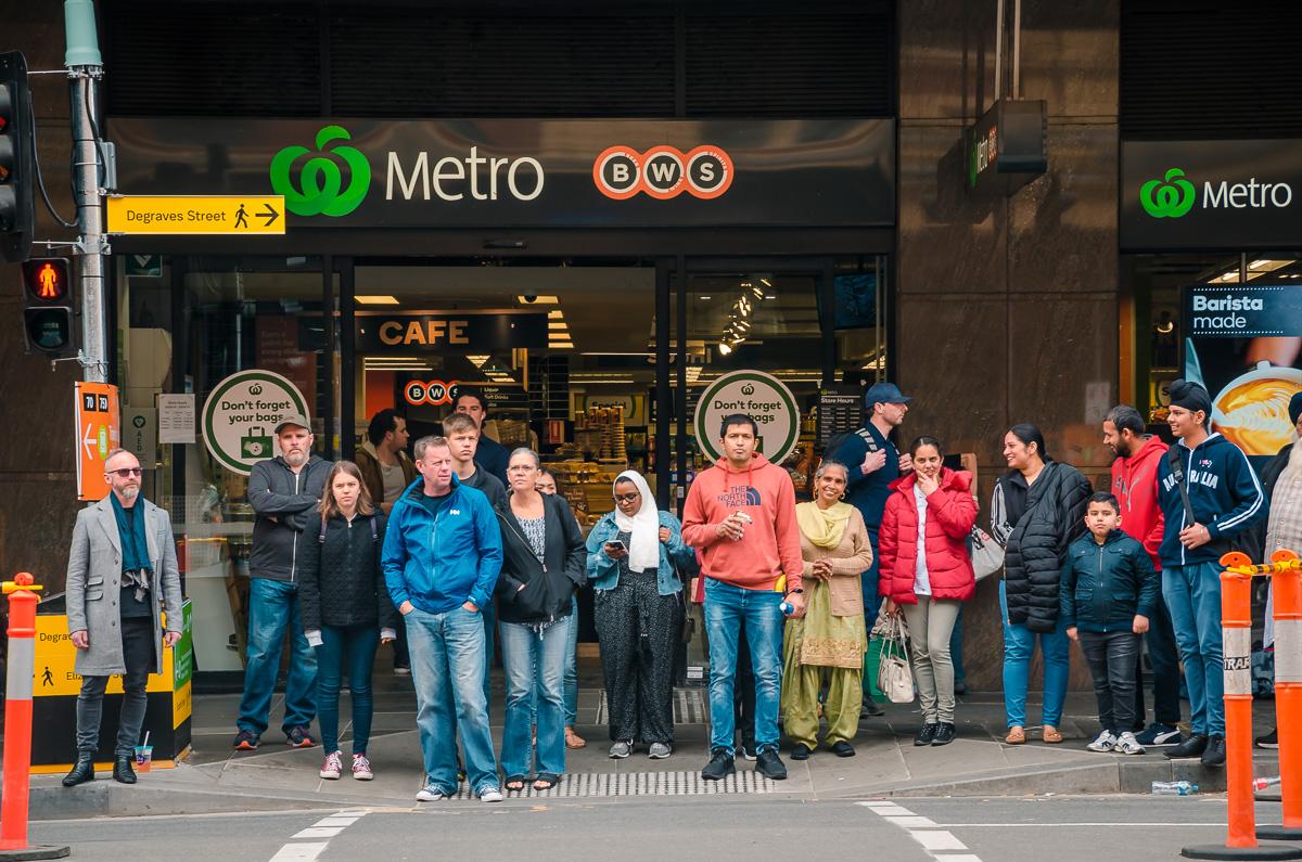Melbourne Metro Station Crowd