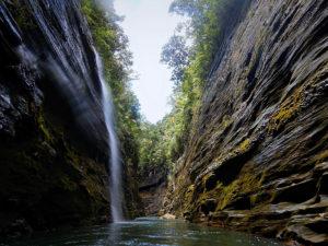 Upper Nevua Gorge With Waterfall