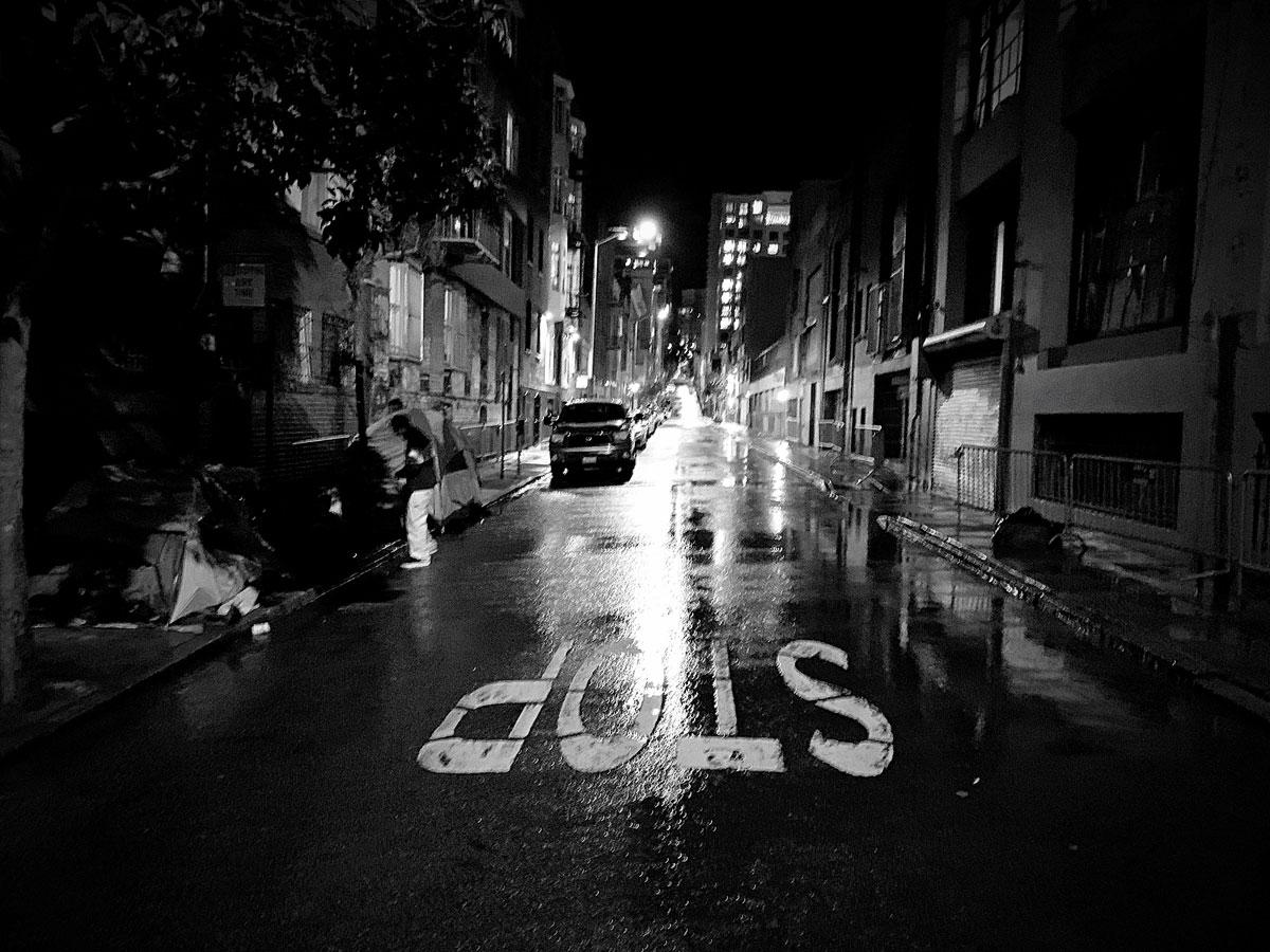 San Francisco Street at Night
