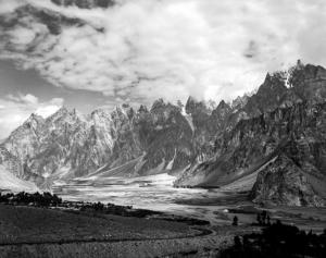 Karakoram Highway Mountains from afar