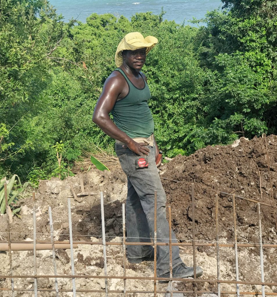 Carriacou Worker on Side of Road