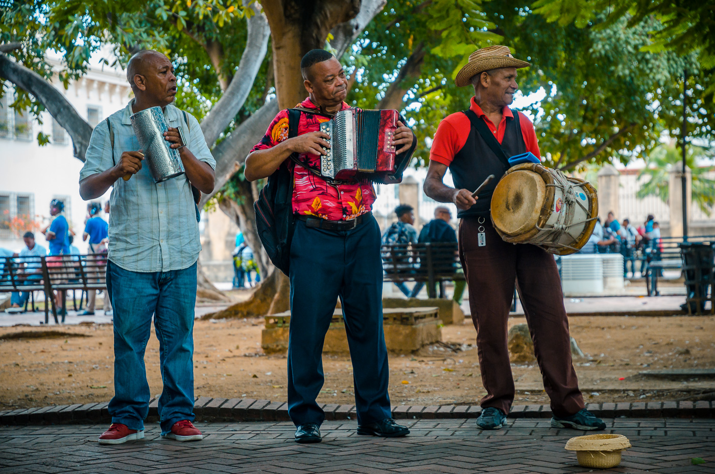 Musicians at Parque Colon, Santo Domingo