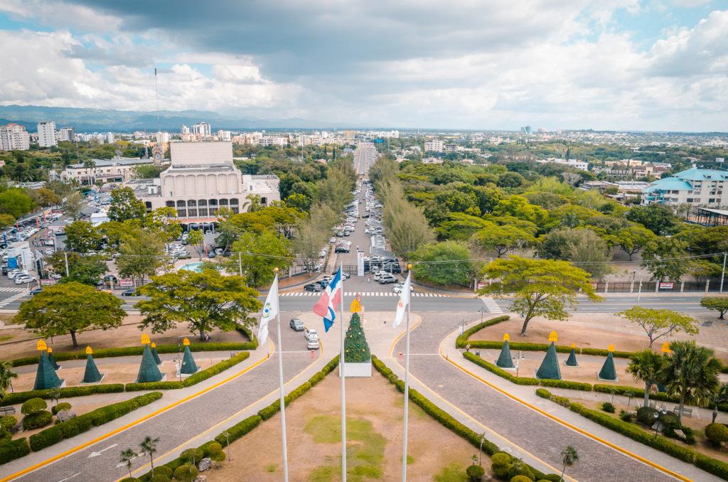 View from Monumento de Santiago
