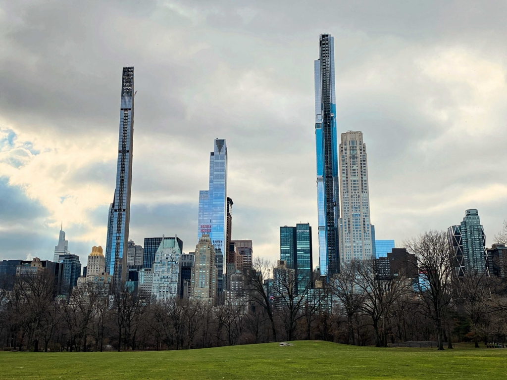 Stick Buildings over Sheep Meadow in Central Park