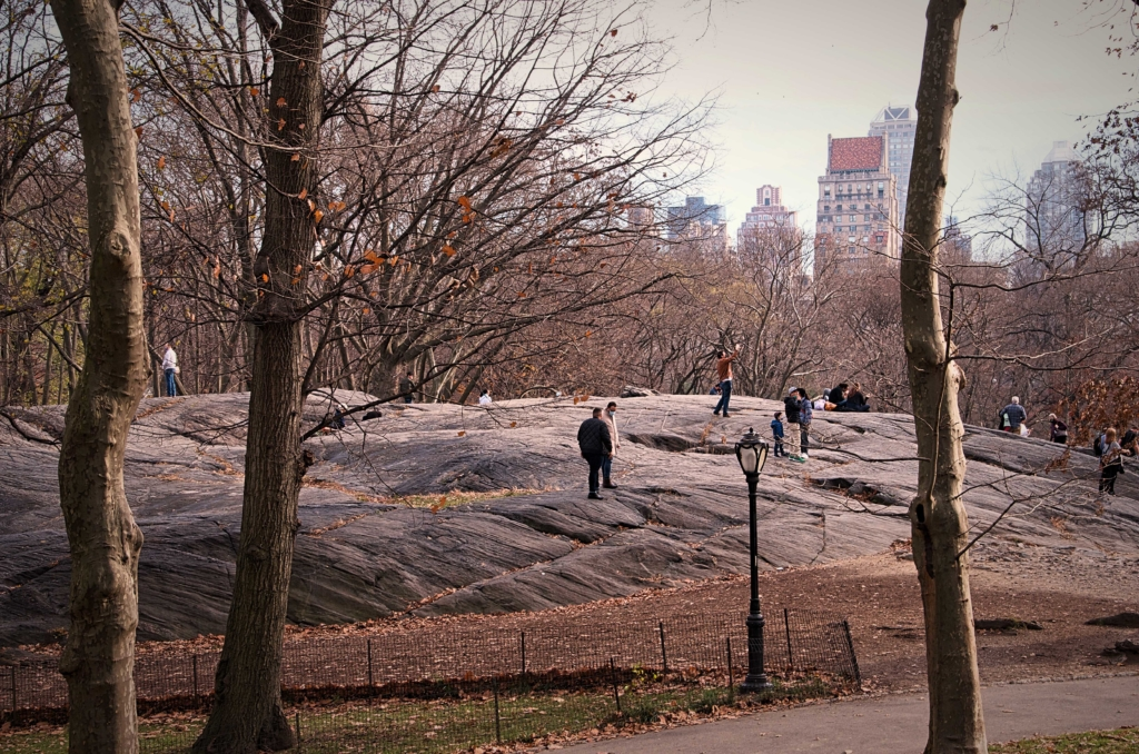 Umpire Rock in Central Park