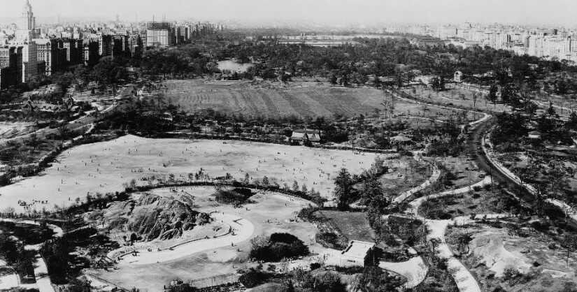 Early Construction of Central Park from NYPAP