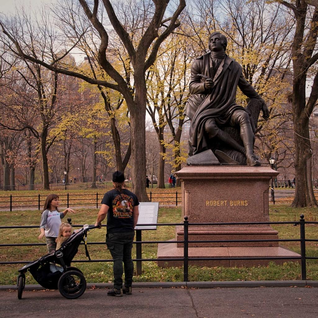 Robert Burns Statue Central Park