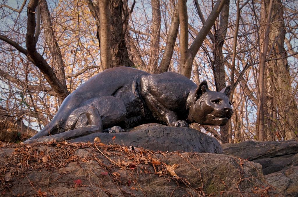 Central ParkStill Hunt Statue of a Panther
