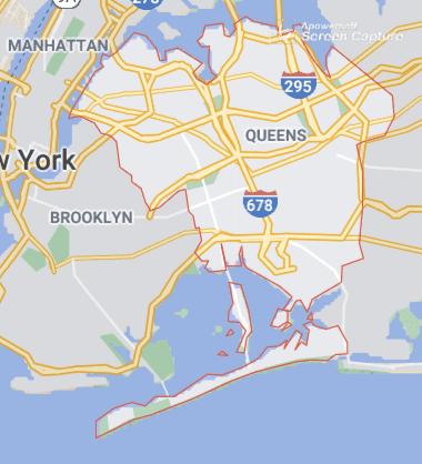 Queens Borders Map