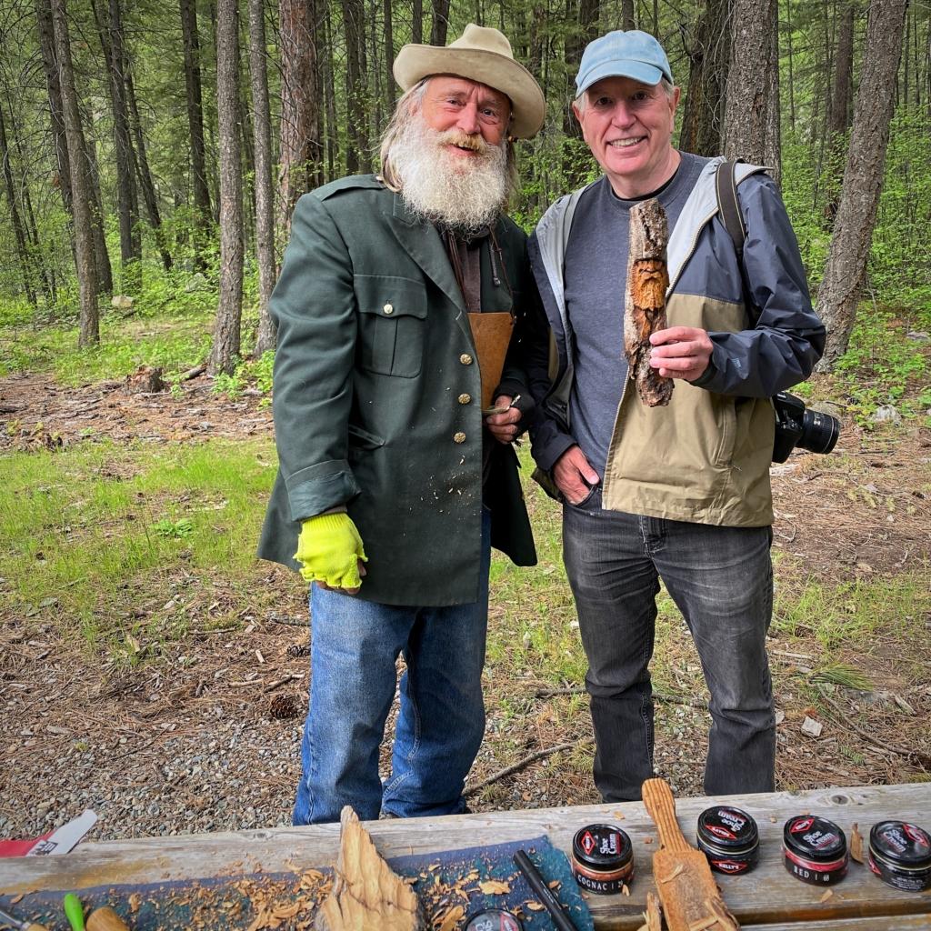Ed & Woodcarver - Kootenai Falls MT