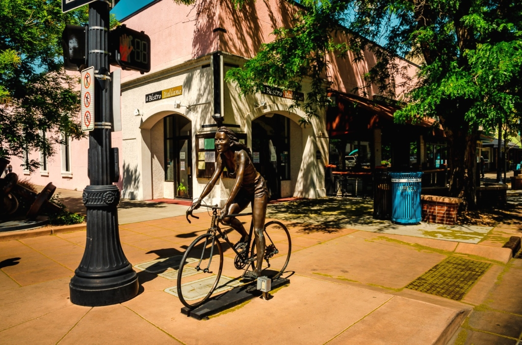 Woman on Bicycle Sculpture - Grand Junction CO